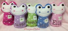 Personalized Mini Frog Baby Rattle Soft Toy