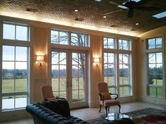 family room addition -love the lights House Styles, Family Room, Great Rooms, Walls Room, Room Additions, House Design Photos, Stone Houses, Sunroom Remodel, Room