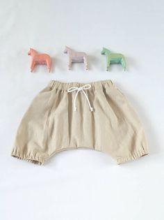 Detské oblečenie - Ľanové háremky - 6425928_