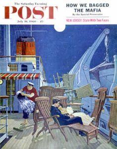 Saturday Evening Post - 1960-07-16: Romantic Night on Deck (James Williamson)