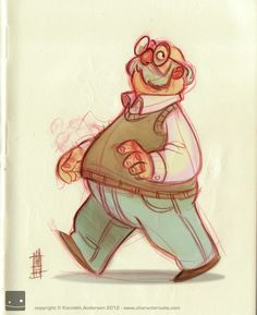 Character Design, Illustration and Concept Art by Kenneth Anderson: Lunch time doodle