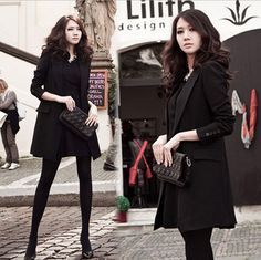 New Handsome Women Classic Black Business Suits A button Blazer Coat Long Jacket #PH #Blazer