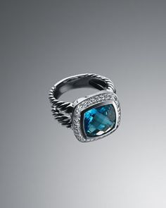 David Yurman Albion Ring, Blue Topaz, 14mm