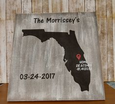Florida-coordinates Wood Sign, Hand Painted,Coordinates and home sign, Florida decor, Florida art, Florida sign, Florida wall art,State sign by Nanniescraftynook on Etsy