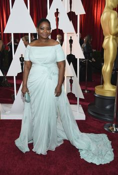 Octavia Spencer on the 2015 Oscars red carpet.