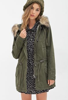 Faux Shearling Parka | FOREVER21 - 2052745784