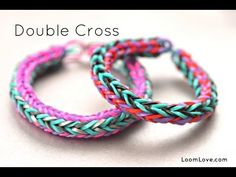 ▶ How to Make a Double Cross Rainbow Loom Bracelet - YouTube