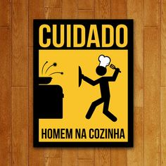 Placa Homem na Cozinha Geek Decor, Welcome To My House, Comics Story, Best Memes, Funny Images, Decoration, Cool Pictures, Pop Art, Funny Quotes