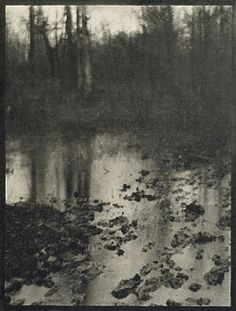 Edward Steichen, was raised, and began his artistic training, in Milwaukee. He was later known for his era-defining photo portraits of celebrities, fashion models, and artists. this photo is one of his earliest works.