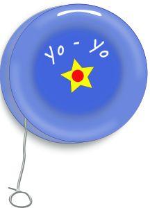 Vintage Yo_Yo by @laurianne, Blue Yo-Yo with yellow star.