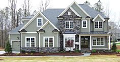 Charming two story home with garage floorplans for Homes by dickerson floor plans