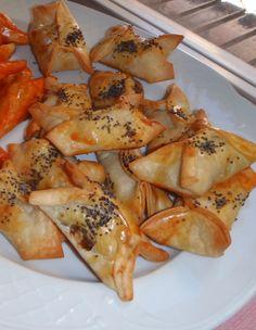 - Paquetitos de cebolla caramelizada con queso de cabra