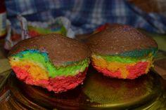 Muffins arcoiris! :D
