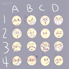 Ideas memes faces facial expressions cartoon for 2019 Expression Challenge, Drawing Challenge, Emoji Challenge, Drawing Face Expressions, Facial Expressions, Drawing Faces, Drawing Techniques, Drawing Tips, Drawing Tutorials