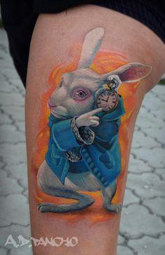 Alice in Wonderland tattoo :)