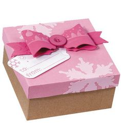 Fiskars Fuse Pink Gift Box & Bow : General Craft Projects :  Shop | Joann.com