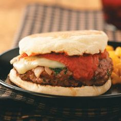 Grilled Pizza Burgers