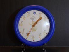 Rare Pillsbury Doughboy Wall Clock - Makes Giggle Sound - #Pillsbury