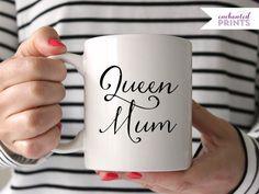 Queen Mum Coffee Mug Ceramic mug quote mug tea von EnchantedPrints