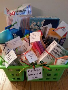 College Survival Caddy by TheRoseBorough on Etsy, $28.00