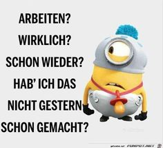 "jpg by Karsten - "":-) ➽ MINIONS ➽ - Schwangerschaft Top Quotes, Funny Quotes, Happy Minions, German Quotes, Tabu, Minions Quotes, Sexy Girl, Funny Facts, Website"