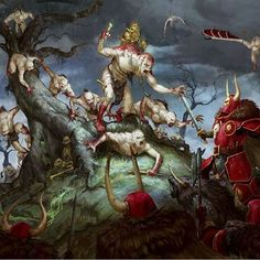 Age of Sigmar- Flesh-Eaters Courts vs. Khorne Warriors