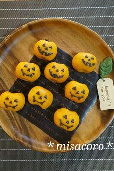 *ハロウィンに♪かぼちゃのスイートポテト*   栄養士*misacoro*のおいしいブログ Halloween Desserts, Halloween Cupcakes, Halloween Treats, Easy Cookie Recipes, Dessert Recipes, Miso Recipe, Food Design, Fall Recipes, Cupcake Cakes