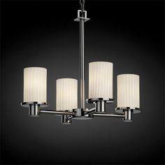 Fusion Rondo Four-Light Polished Chrome Chandelier