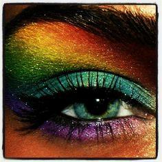 Scene eyeshadow #colorful #shadow #eyes #pretty #green #blue #yellow #red #purple #rainbow #scenelife #loverainbow   Flickr - Fotosharing!
