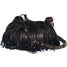 McFadin Fringe Bag ($396) ❤ liked on Polyvore featuring bags, handbags, purses, studded purse, vintage hand bags, studded handbags, pocket purse and vintage handbags purses