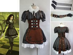 Made to Order Steampunk Alice in Wonderland The Madness Returns Cosplay Dress Alice Cosplay, Cosplay Dress, Costume Dress, Alice Costume, Steampunk Cosplay, Steampunk Clothing, Steampunk Fashion, Steampunk Kids, Steampunk Halloween