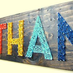 Similar Products: Personalized Modern String Art Name Tablets