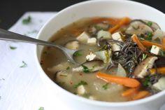 Veggie Noodle Miso Soup (With black bean noodles!)