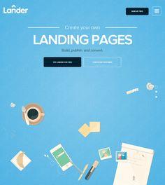LanderApp, May 7, 2014. http://www.awwwards.com/web-design-awards/landerapp #UI #Inspiration #Web #Design #Colorful #Scroll #Awwwards #SOTD