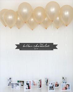 With a few supplies you can easily create this meaningful Balloon Chandelier DIY masterpiece to showcase your engagement photos. Balloon Chandelier, Diy Chandelier, Outdoor Chandelier, Iron Chandeliers, Party Fotos, Cake Pop Displays, Diy Foto, Medical Gifts, Grad Gifts