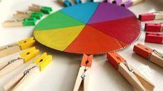 Activité d\'éveil : Le jeu des pinces à linges (inspiration Montessori)