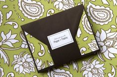 Green Lotus Fabric Note Cards