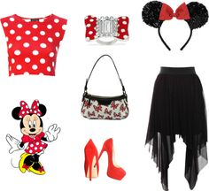 """""""Minnie Mouse"""" by bigbirtha on Polyvore"""