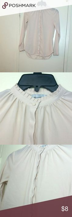 Button Down Blouse Cream  Measurements: Length:         22 inches  Arm Length: 21 inches H&M Tops Blouses