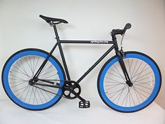 Matte Black and Blue Fixie Single Speed Fixie Bike with Flip Flop Hub By Sgvbicycles Fixies - http://www.bicyclestoredirect.com/matte-black-and-blue-fixie-single-speed-fixie-bike-with-flip-flop-hub-by-sgvbicycles-fixies/