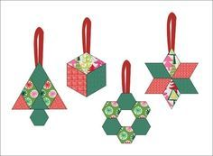 English paper pieced ornaments