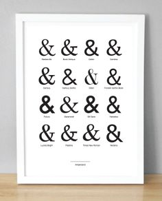 Ampersand Print / Poster (210 x 297mm) (A4). £3.50, via Etsy.