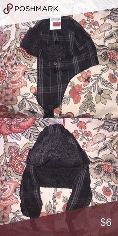 Buckle Plaid Trapper hat NWT Buckle grey and black plaid trapper hat Buckle Accessories Hats
