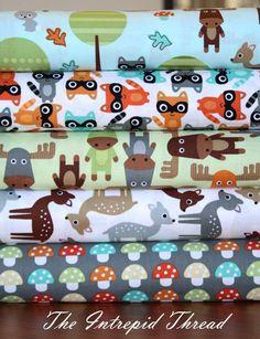 Woodland Pals - Half Yard Bundle in Nature  __ Would love to have this half yard bundle!!!
