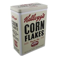 NEW RETRO VINTAGE STYLE KELLOGS CORNFLAKES TIN KITCHEN FOOD STORAGE TIN/BOX