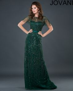 Jovani 74026 :: Art Deco 1920's Great Gatsby bridesmaids dress