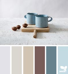 { ceramic tones } image via: @freefoldingceramic - For more colour trends 2016 - 2017 check http://www.wonenonline.nl/interieur-inrichten/kleuren-trends/ #colour #palette #design