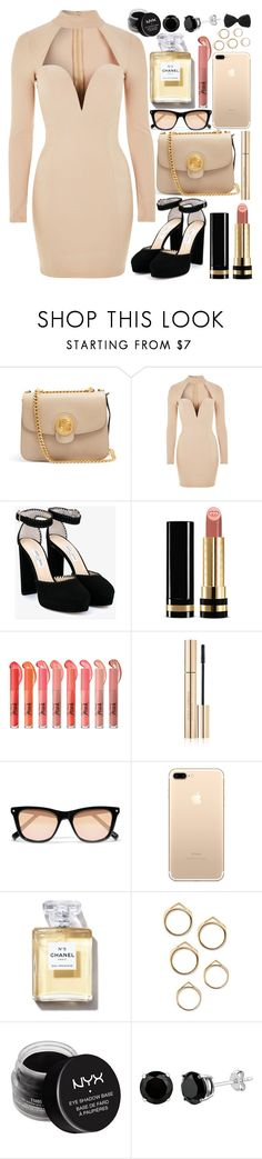 """Choker Dress"" by fangirl-preferences ❤ liked on Polyvore featuring Chloé, Rare London, Jimmy Choo, Gucci, Dolce&Gabbana, Elizabeth and James and NYX"