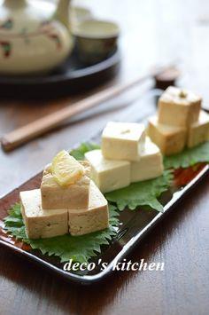 漬け豆腐、3種盛り合わせ ~レモン醤油、塩麹、柚子胡椒味噌~ |decoの小さな台所。~体にやさしい妄想料理レシピ、薬膳メモ付き~|Ameba (アメーバ)