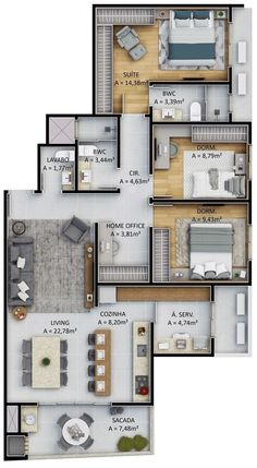 Modern house design plans layout 21 ideas for 2020 Sims House Plans, House Layout Plans, Family House Plans, Dream House Plans, Small House Plans, House Layouts, Sims House Design, Bungalow House Design, Small House Design